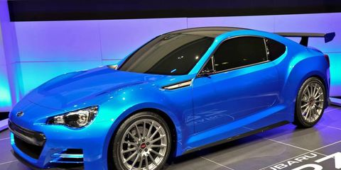 The Subaru BRZ concept made its debut at the Los Angeles auto show.