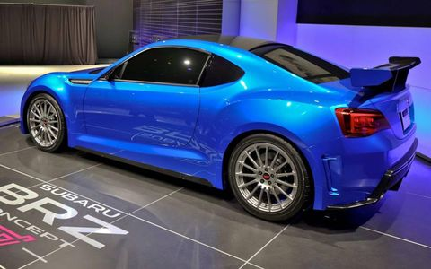 The Subaru BRZ concept includes a decklid wing.