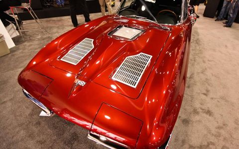 This '63 Corvette doesn't seem so bad until you see the hokey ZR1 window over the LS9 engine. The Sting Ray's lines are too good to foul like this.