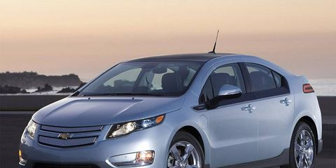 """General Motors CEO Dan Akerson says technology from the Chevrolet Volt, shown, will appear in a minivan version """"in the next few years."""""""