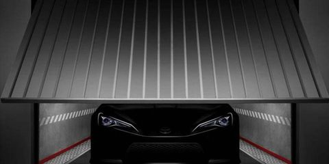 Toyota offers this peek at the FT-86 II concept headed for Geneva in March.