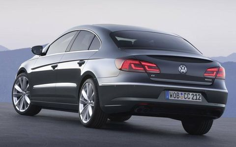 New-design taillamps mark the 2012 Volkswagen CC.