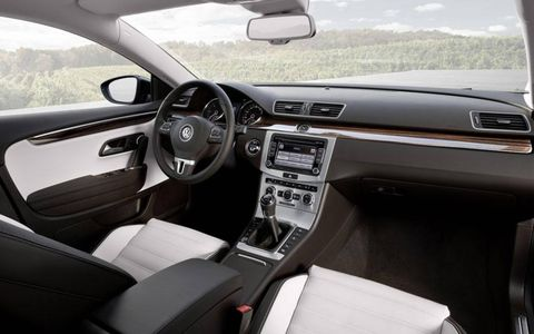 The cabin of the 2013 Volkswagen CC.