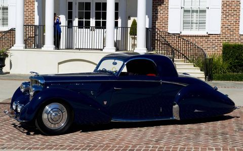 This beautiful Graber-bodied Jaguar was one of the participants on the Hilton Head Island Motoring Festival's Stars & Stripes Tour.