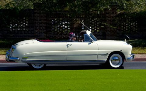 A 1951 Hudson Hornet convertible making its way along the Hilton Head Island Motoring Festival's Stars & Stripes Tour.