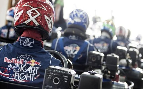 Ready, set, kart // Competitors line up for the Red Bull Kart Fight in Nova Odessa, Brazil on October 27. Red Bull holds similar events in cities across the globe. Bruno Terena/Red Bull