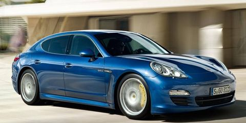 The Porsche Panamera S hybrid can travel 1.2 miles on electric power alone.