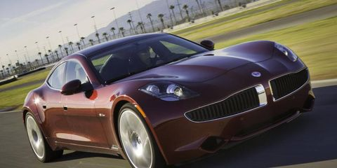 Fisker says the Karma will run from 0 to 60 mph in 5.9 seconds when the powertrain is in sport mode.