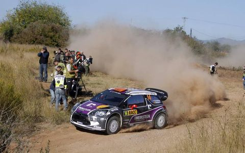 Peter Van Merksteijn kicks up some dust in his Citroën WRC during Rally Spain on Oct. 20-23. Photo by: McKlein/LAT Photographic