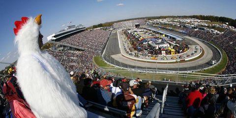 Happy Halloween, Chicken Man: NASCAR fans at Martinsville got into the spirit.