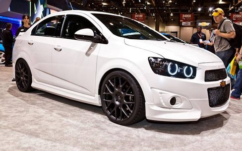 The DSO Eyewear Chevrolet Sonic at this year's SEMA show.