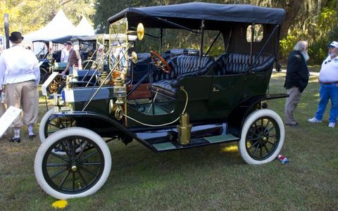 1911 Ford Model T Touring owned by Michael and Nancy Roach of Libertyville, Illinois. Best in Class award winner.