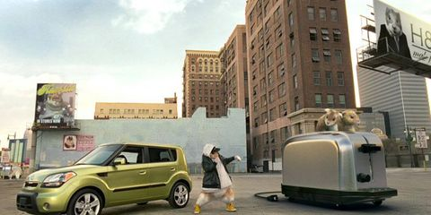 Rapping hamsters were the stars of ads for the Kia Soul.