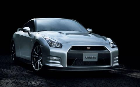 2014 Nissan GT-R in gray.