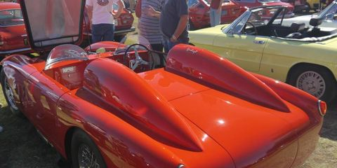 Dual fairings, dual windshields make this Alfa-Romeo twice as fast.