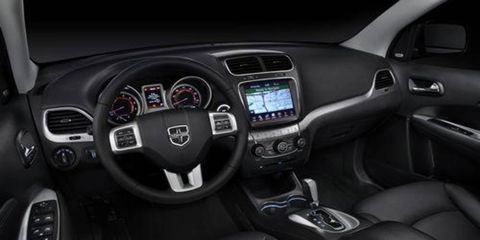 The 2010 Dodge Journey had a cast skin and a soft-touch foam instrument panel, but it looked harsh and hard. The revamped 2011 interior, shown here, softens and enhances the look while using the same materials.