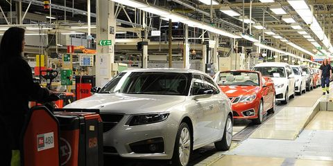 Saab expected to restart production on Wednesday.