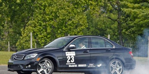 Mercedes driver Mauro Calo will attempt to break the powersliding record using an AMG Mercedes sedan.
