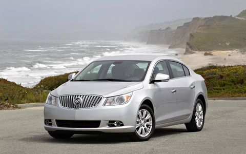 A front view of the 2012 Buick LaCrosse with eAssist