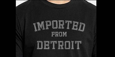 One of the shirts for sale by Pure Detroit.