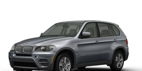 The 2012 BMW X5 xDrive35d model is being recalled for a faulty belt tensioner.
