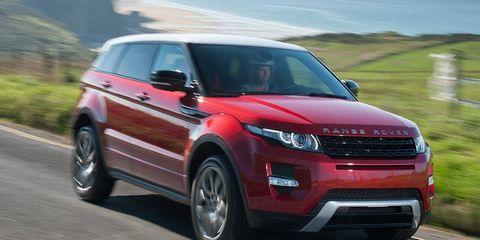 The 5-door Land Rover Range Rover Evoque carries a sticker price of $43,995.