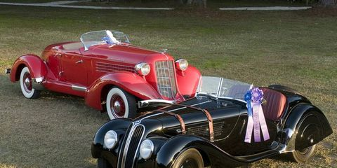 Best of Show 1937 BMW 328 Roadster and People's Choice Auburn Boattail speedster