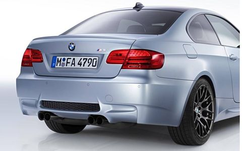 The 2012 BMW M3 Competition Edition gets blacked out tailpipes