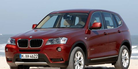 BMW is recalling 50 copies of the X3 to fix a steering issue.