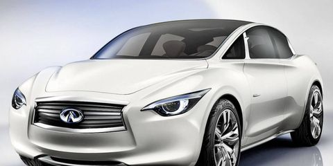 Infiniti's Etherea concept apparently would be the basis for the compact, entry-level model Nissan is planning.
