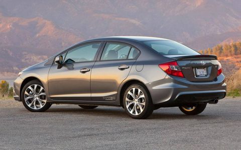 The 2012 Honda Civic Si Navi sedan's chassis is a highlight. Overall, the car feels tight, composed and balanced.