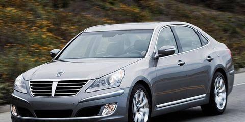 The Hyundai Equus sedan was the top-ranked car in a new J. D. Power survey.