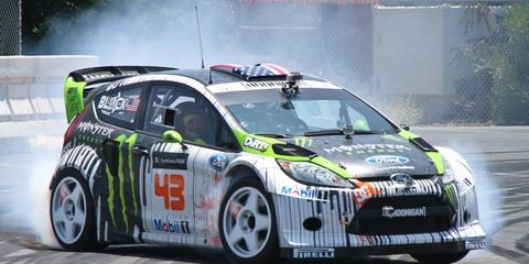 Ken Block's Hybrid Function Hoon Vehicle Ford Fiesta can be configured for three types of racing.