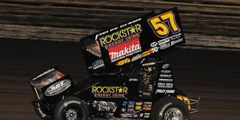 Shane Stewart won the Knoxville 360 Nationals in Knoxville, Iowa.