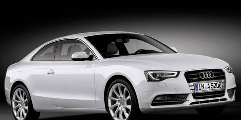 Audi's new 1.8-liter turbocharged engine will be used in the A5 in Europe.