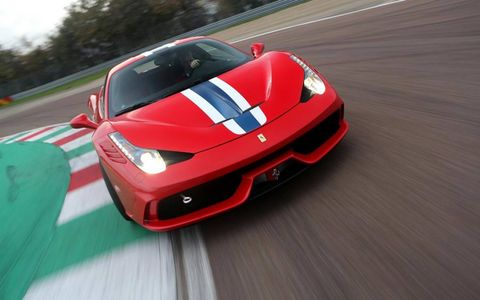 The 458 Speciale packs 597-hp under the hood.