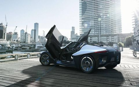 The BladeGlider is a prototype of an upcoming vehicle, Nissan says.