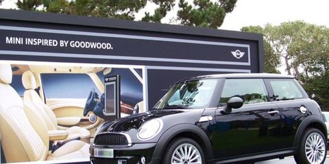 The Mini Inspired by Goodwood, featuring Rolls-Royce design, is debuting at the 2011 Pebble Beach Concours d'Elegance in California.