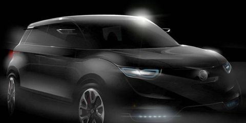 The XUV 1 uses glass along with curved bodywork to look imposing without being aggressive, according to SsangYong.
