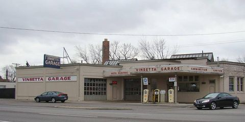 The Vinsetta Garage and its glowing red neon façade are instantly recognizable to anyone who has ever attended the cruise or done laps in a classic car on Woodward Avenue.