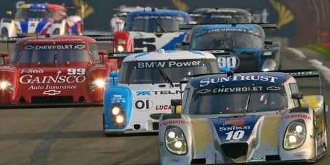 The No. 10 Sun Trust Chevrolet/Dallara leads the field at Watkins Glen on Saturday.
