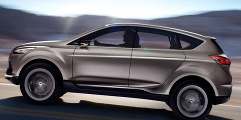 The Ford Vertrek concept previews the look of the redesigned Escape SUV.