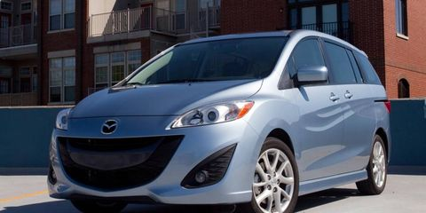 The four-cylinder engine in our long-term Mazda 5 is rated at 157 hp.