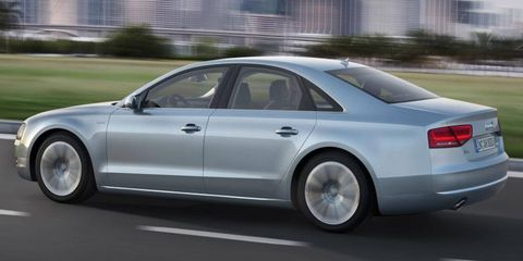 The Audi A8 hybrid will run from 0 to 62 mph in 7.7 seconds.