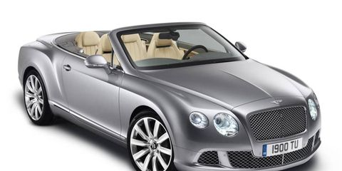 New Bentley Continental GTC convertible headed for Frankfurt.