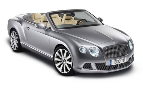 New Bentley Continental GTC convertible headed for Frankfurt.