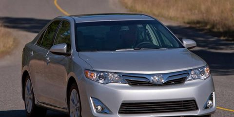The 2012 Toyota Camry XLE starts at $25,485.