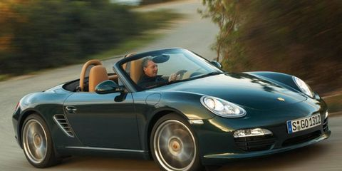 Porsche's new flat-four engine might be used in the next-generation Boxster. The 2011 Boxster is shown.