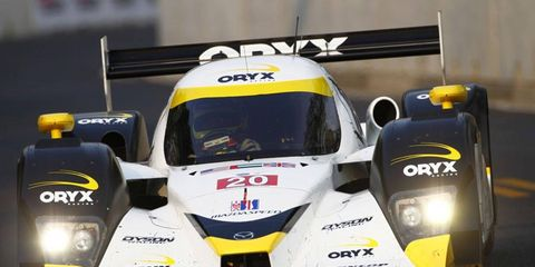 Steven Kane and Humaid Al Masaood picked up their first overall win in the American Le Mans Series on Saturday in Baltimore.