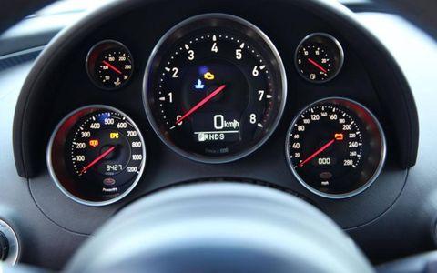Speedometer, Red, Gauge, Tachometer, Orange, Light, Carmine, Black, Measuring instrument, Fuel gauge,